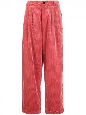 Зауженные вельветовые брюки YMC. Цвет: розовый