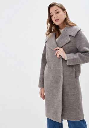 Пальто Pink Frost. Цвет: серый