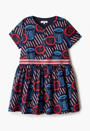 Платье Catimini. Цвет: синий