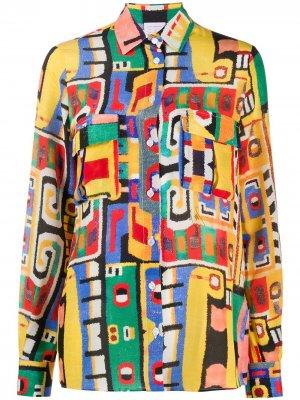 Рубашка с длинными рукавами Stella Jean. Цвет: желтый