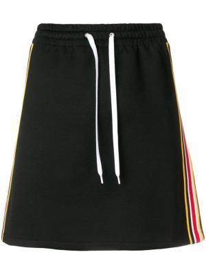 Спортивная юбка Miu. Цвет: черный