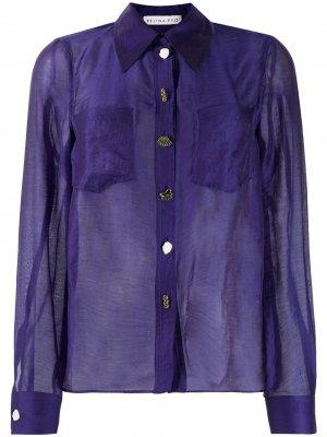 Полупрозрачная рубашка Remi Rejina Pyo. Цвет: фиолетовый