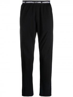 Пижамные брюки с логотипом Karl Lagerfeld. Цвет: черный