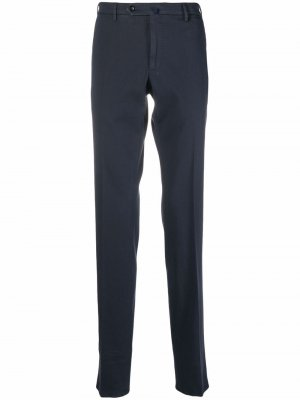 Прямые брюки строгого кроя Incotex. Цвет: синий