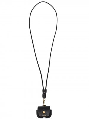 Чехол для AirPods с ремешком на шею Tom Ford. Цвет: черный