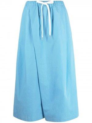 Укороченные брюки широкого кроя Marni. Цвет: синий