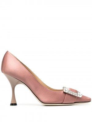 Туфли-лодочки Sr Twenty с декорированной пряжкой Sergio Rossi. Цвет: розовый