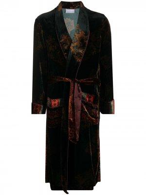 Халат с поясом Pierre-Louis Mascia. Цвет: черный