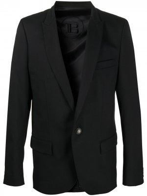 Однобортный пиджак Balmain. Цвет: черный