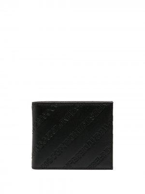 Бумажник с тисненой монограммой Diesel. Цвет: черный