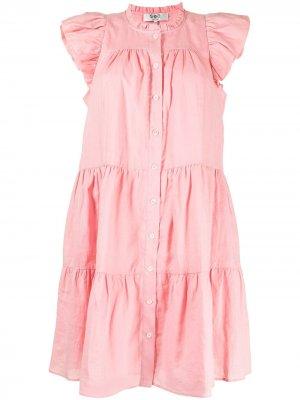 Платье Shannon с оборками на плечах Sea. Цвет: розовый