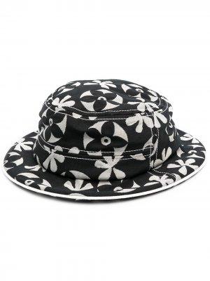 Шляпа с цветочным принтом 10 CORSO COMO. Цвет: черный