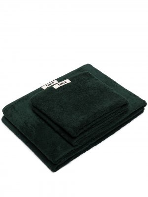 Комплект полотенец из органического хлопка TEKLA. Цвет: зеленый