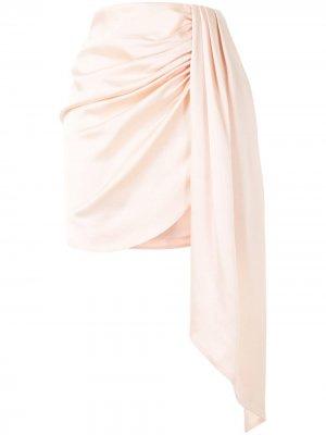 Юбка мини с драпировкой Jonathan Simkhai. Цвет: розовый