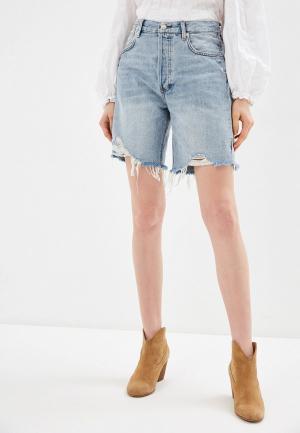 Шорты джинсовые Free People. Цвет: голубой