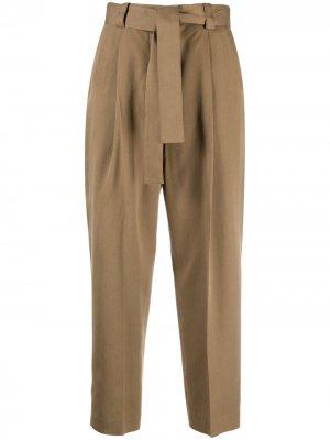 Укороченные брюки с поясом Pt01. Цвет: зеленый