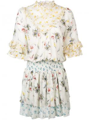 Bohemian mini dress By Timo. Цвет: нейтральные цвета