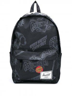 Рюкзак с надписью Herschel Supply Co.. Цвет: черный