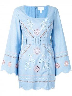 Платье Heavenly Creatures с поясом Alice McCall. Цвет: синий