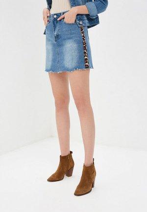 Юбка джинсовая Softy. Цвет: синий