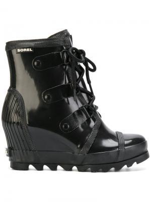 Ботинки на танкетке Joan Sorel. Цвет: чёрный