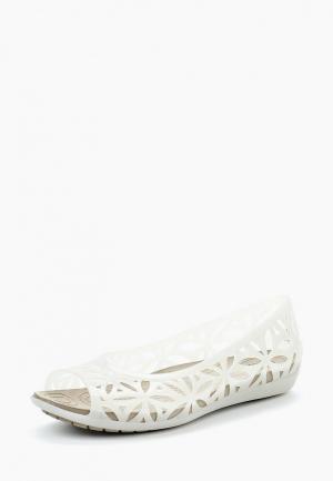 Балетки Crocs. Цвет: белый
