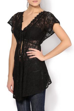 Блуза HIGH. Цвет: черный
