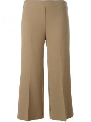 Укороченные расклешенные брюки P.A.R.O.S.H.. Цвет: нейтральные цвета