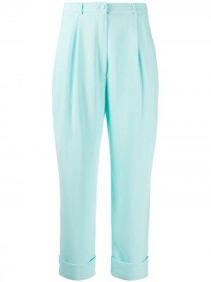 Однотонные зауженные брюки Hebe Studio. Цвет: синий