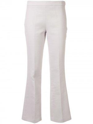 Расклешенные брюки с заниженной талией Giambattista Valli. Цвет: серый