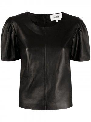 Топ Lita с короткими рукавами Ba&Sh. Цвет: черный