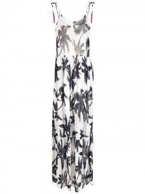 Пляжное платье с принтом Brigitte. Цвет: белый