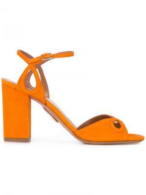 Босоножки с открытым носком Aquazzura. Цвет: жёлтый и оранжевый