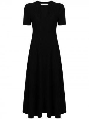 Трикотажное платье с вырезом Proenza Schouler. Цвет: черный