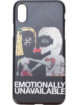 Чехол для Iphone 7/8 Plus Emotionally Unavailable Haculla. Цвет: черный