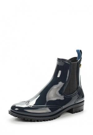 Резиновые полусапоги Trussardi Jeans. Цвет: синий