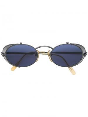 Овальные солнцезащитные очки Jean Paul Gaultier Pre-Owned. Цвет: черный