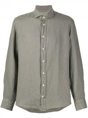 Рубашка узкого кроя Hackett. Цвет: зеленый