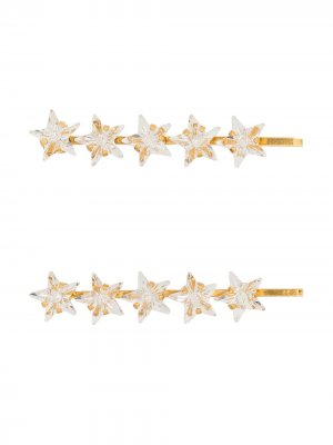 Заколка для волос Martine с кристаллами Jennifer Behr. Цвет: золотистый