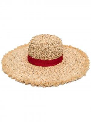 Соломенная шляпа Pamela Borsalino. Цвет: нейтральные цвета