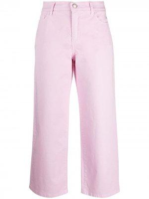 Расклешенные брюки средней посадки Malo. Цвет: розовый