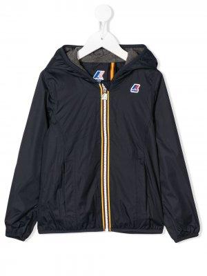 Куртка Lily с капюшоном K Way Kids. Цвет: синий