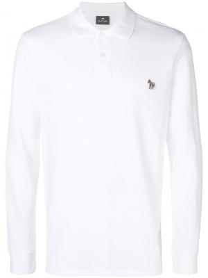 Zebra logo polo shirt Ps By Paul Smith. Цвет: белый