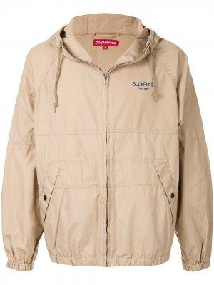 Куртка с капюшоном и рукавами реглан Supreme. Цвет: коричневый