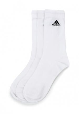 Комплект носков 3 пары adidas Performance. Цвет: белый