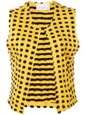 Трикотажная майка с графическим узором в стиле 1970-х Krizia Pre-Owned. Цвет: желтый