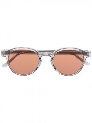 Солнцезащитные очки Warhol в круглой оправе Retrosuperfuture. Цвет: серый