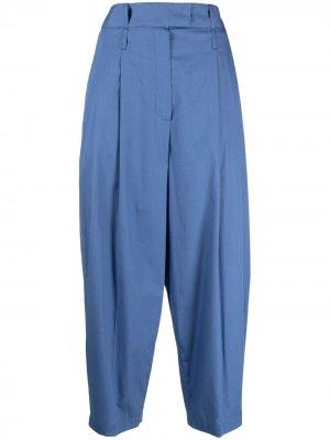 Зауженные брюки с завышенной талией Jejia. Цвет: синий