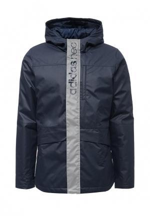 Куртка утепленная adidas Neo. Цвет: синий