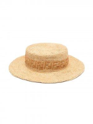 Шляпа с логотипом FF Fendi Kids. Цвет: нейтральные цвета
